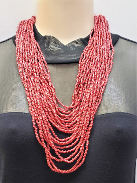 Beaded Necklace - Hera - Red