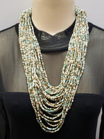 Beaded Necklace - Hera - Turquoise Multi