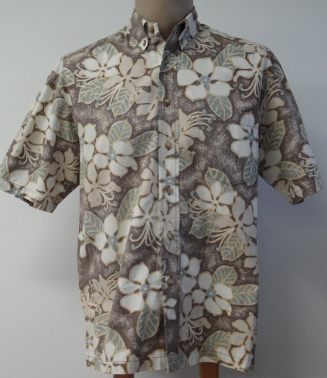 Vintage Kahala Floral Print Men's Aloha Shirt - Medium