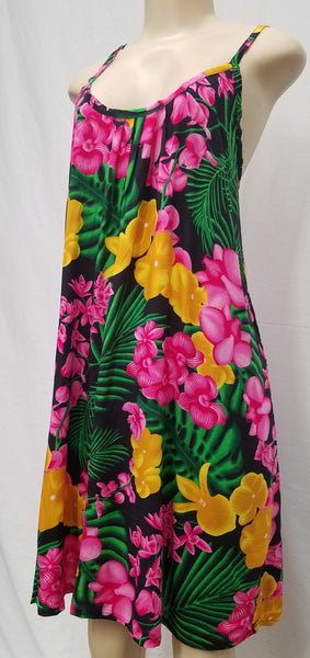 Ladies Leilani Dress - Flower Explosion - Black