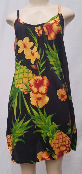 Ladies Leilani Dress - Pineapple - Black