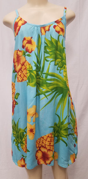 Ladies Leilani Dress - Pineapple - Turquoise
