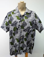 Men's Aloha Shirt - Monstera - Black