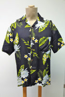 Men's Aloha Shirt - Night Blooming Ceries - Black