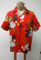 Men's Aloha Shirt - Night Blooming Ceries - Red