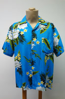 Men's Aloha Shirt - Night Blooming Ceries - Turquoise