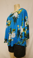 Poncho Top  -  Night Blooming Ceries  -  Blue Black