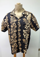 Men's Aloha Shirt - Paradise - Black