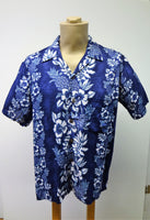Men's Aloha Shirt - Paradise - Navy