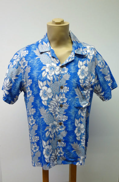 Men's Aloha Shirt - Paradise - Sky Blue