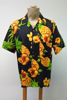 Men's Aloha Shirt - Pineapple - Black