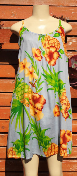 Ladies Leilani Dress - Pineapple - Gray