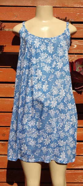 Ladies Leilani Dress - Pineapple Rain - Blue