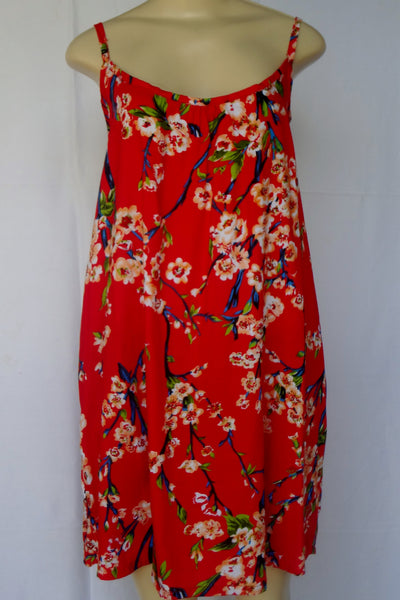 Ladies Leilani Dress - Cherry Blossom - Red