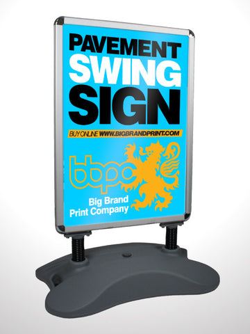 Pavement Swing Sign