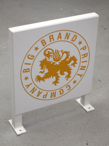 Big Brand Logo Projecting Metal Sign Complete With Graphics