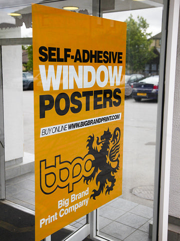 Self Adhesive Window Posters