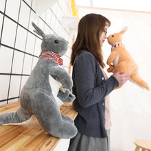 Load image into Gallery viewer, 40cm Kangaroo Doll Stuffed Animal Plush Kangaroo Toys with Baby Cute Animal Doll for Kids Birthday Gift Cheap