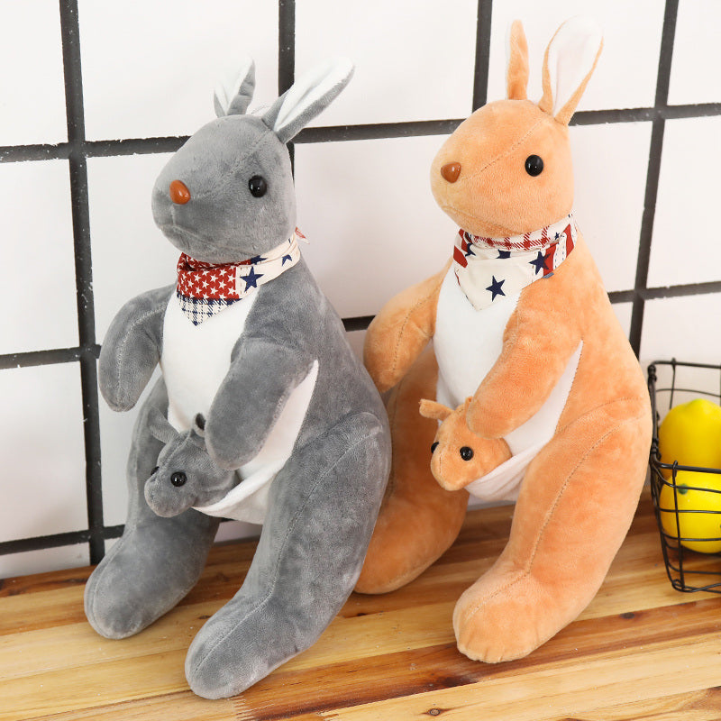 40cm Kangaroo Doll Stuffed Animal Plush Kangaroo Toys with Baby Cute Animal Doll for Kids Birthday Gift Cheap