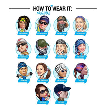 Load image into Gallery viewer, Lions Face Headband Half Bandana Headwear