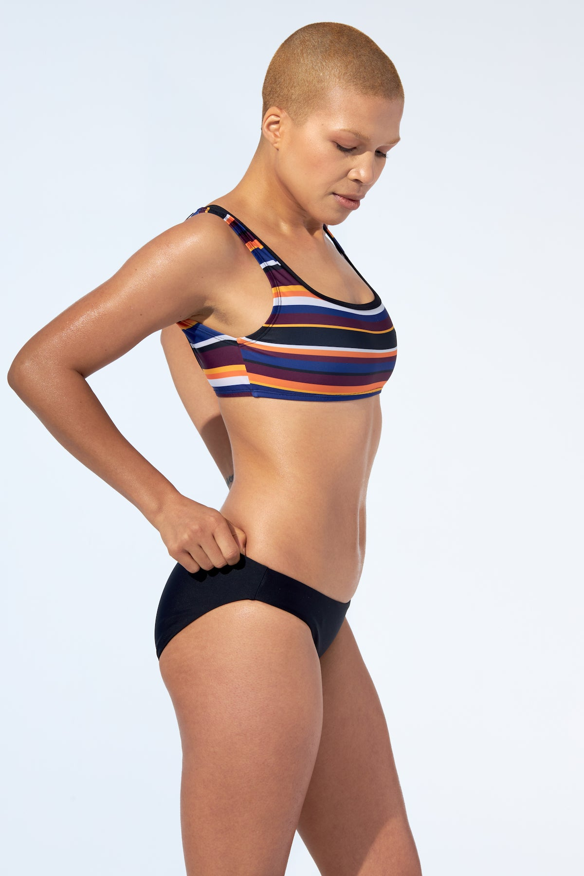 GABRIELLE - Bikini Top in stripe print