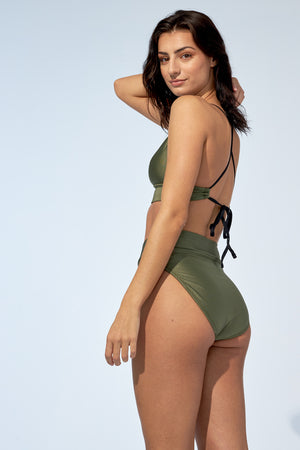 ANALIE – Bikini bottom in shinny khaki