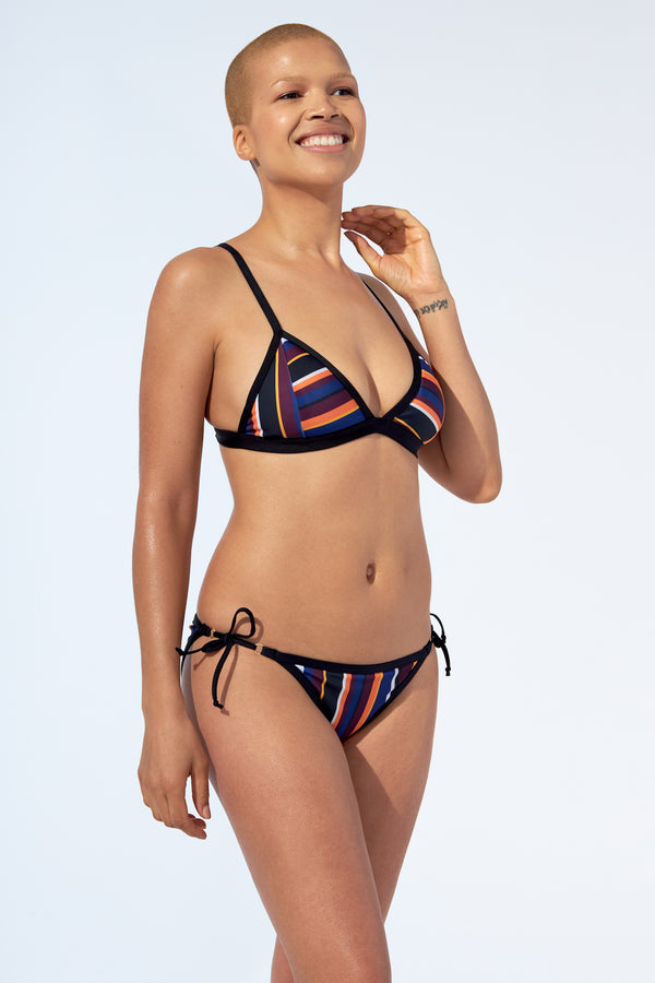 Penelope - Bikini top in stripes print