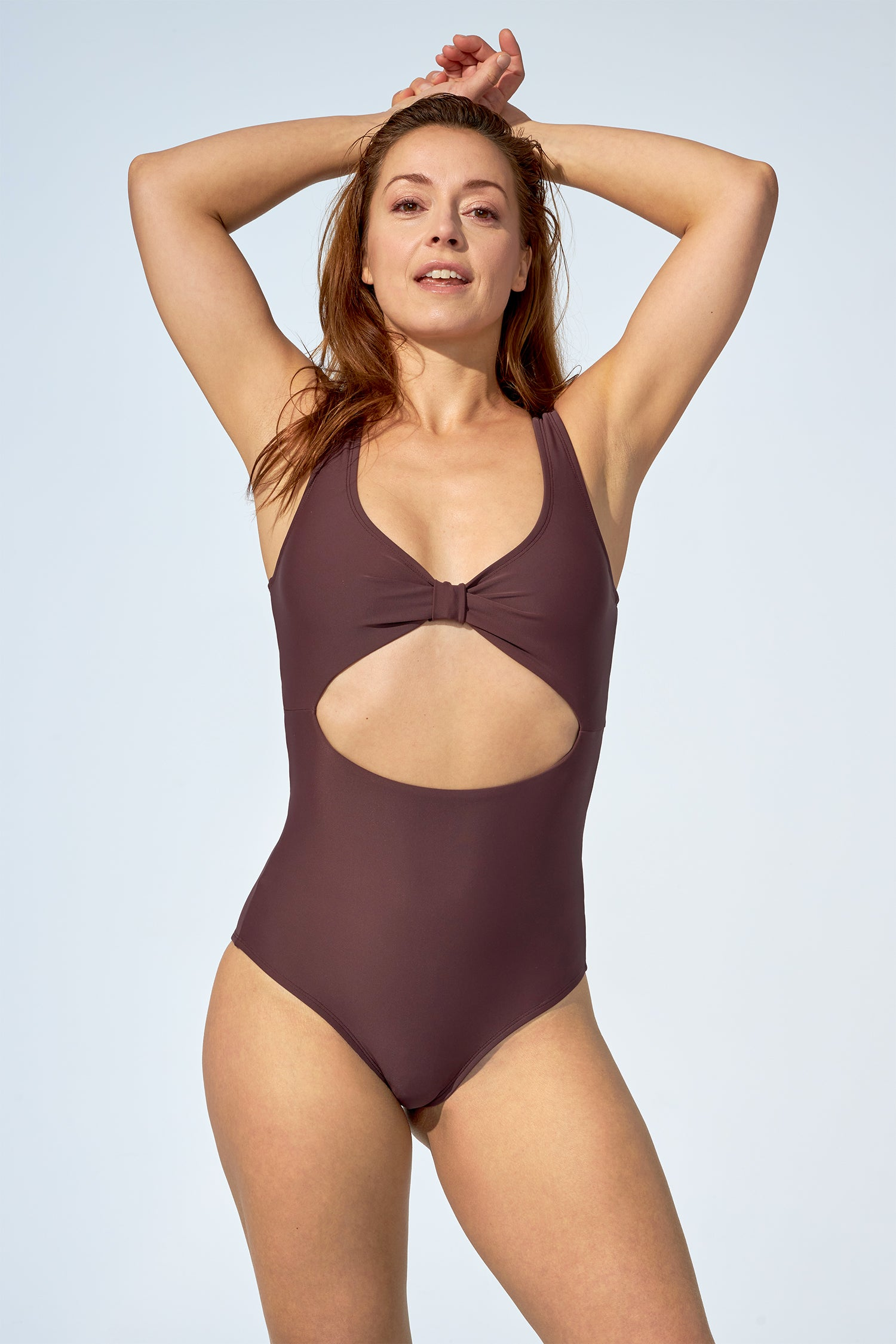 NICOLE - One piece in purple brown