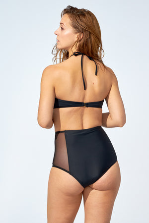 FLORENCE – High waist bikini bottom in black