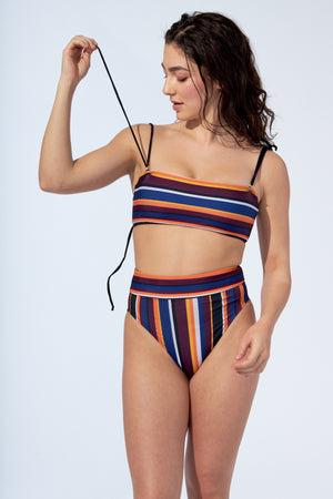 MARINA - Bikini top in Stripes