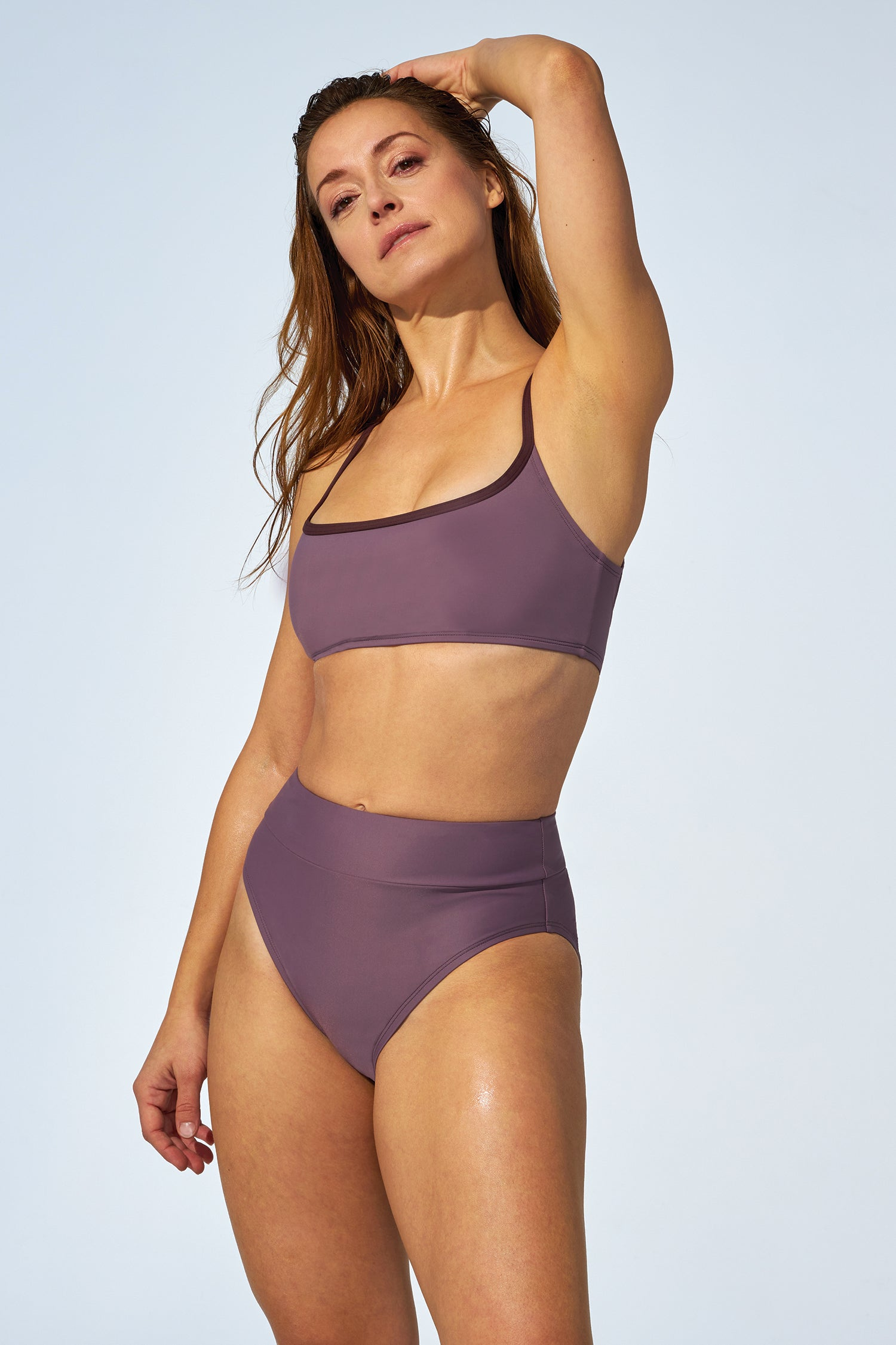 ANALIE – High waist bikini bottom in soft purple