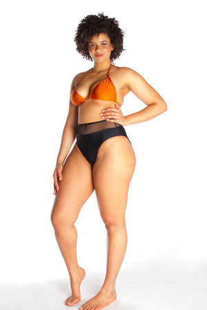 ROXANNE – Bikini top in Orange bronze