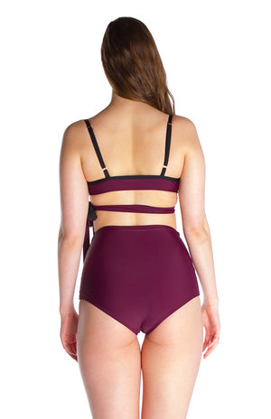 LOLA – Bikini top in Burgundy