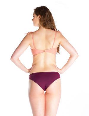 ERICA REVERSIBLE -Bikini bottom in Burgundy and pink