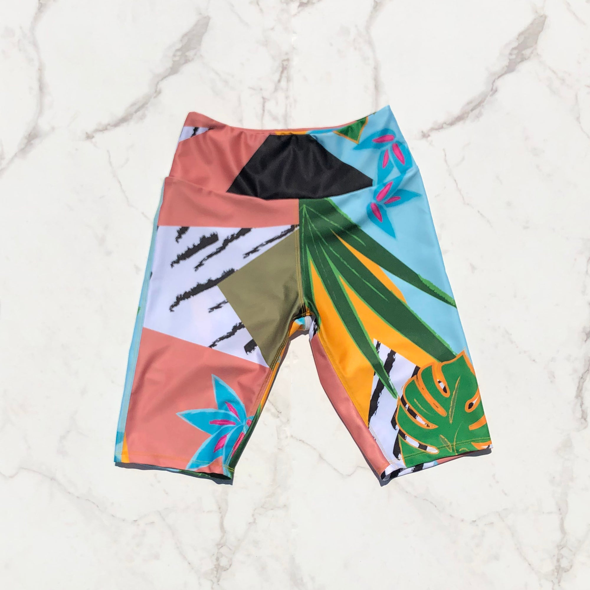 Biker short – tropical print