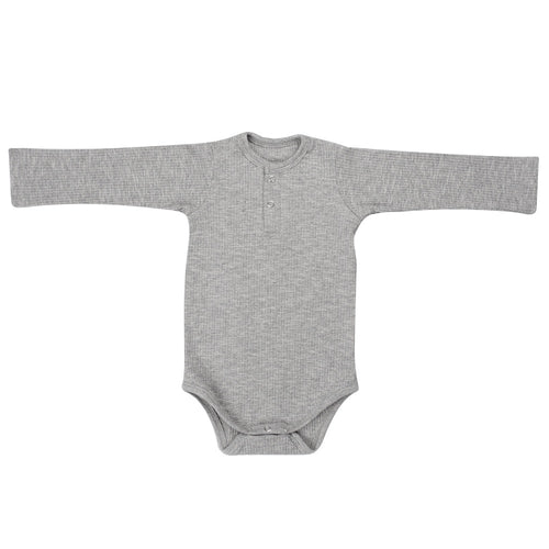 RIBBED BODYSUIT - PEBBLE