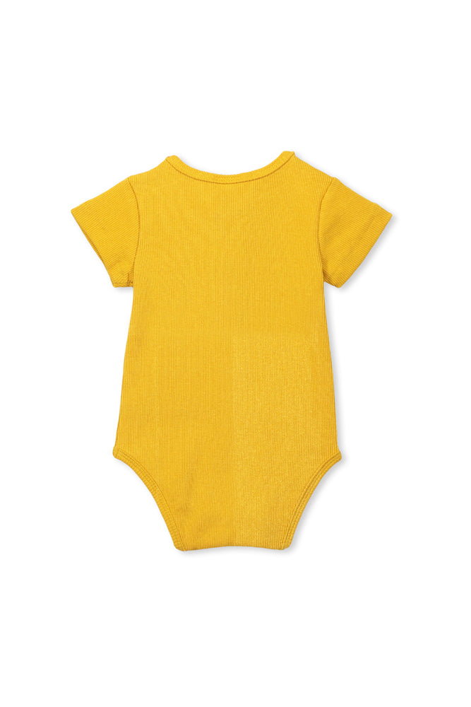 Load image into Gallery viewer, RIB BUBBYSUIT - MUSTARD