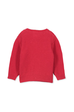 CABLE KNIT - RED