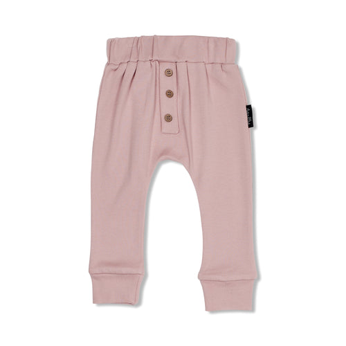 BUTTON SLOUCH PANT - ROSE