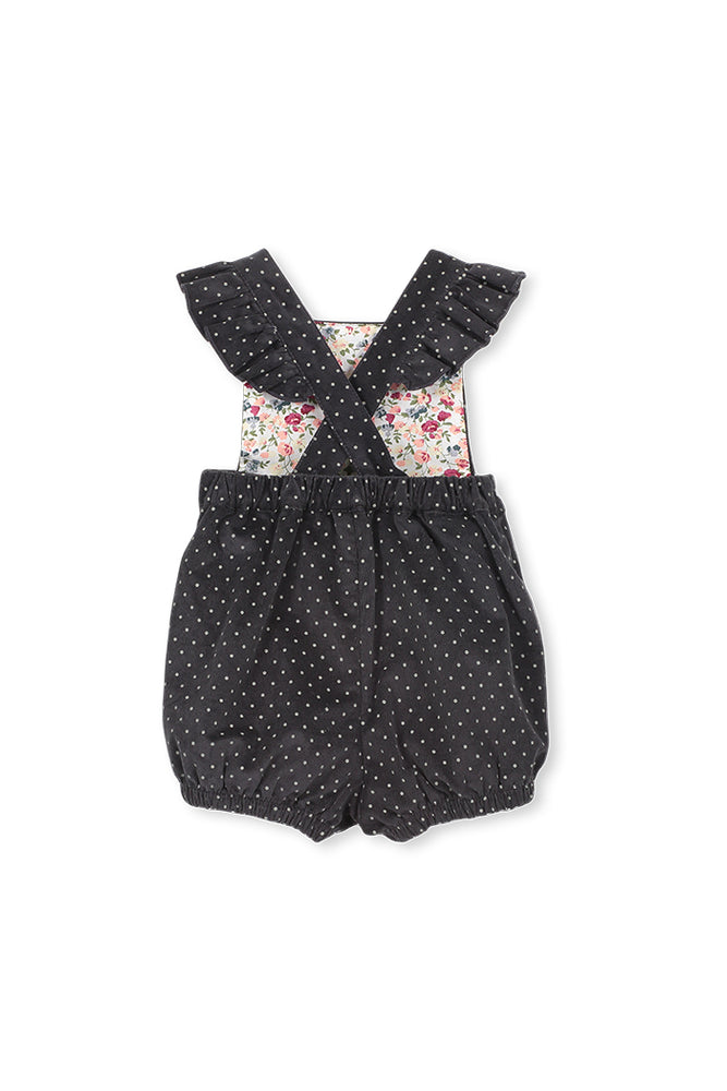 CORD SPOT PLAYSUIT - GREY CORD
