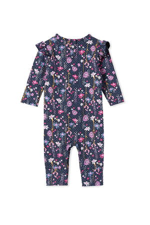 WILD FLOWER ROMPER - FRANCH NAVY