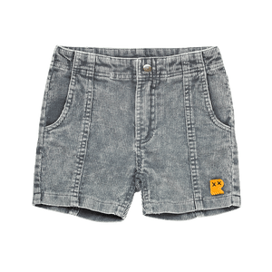 WASHED CHARCOAL CORDUROY - SHORTS