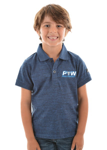 Pure Western - Boys Bryson S/S Polo - Blue Ink