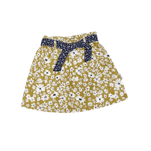 Load image into Gallery viewer, GIRLS CHARLOTTE SKIRT - DIJON FLORAL