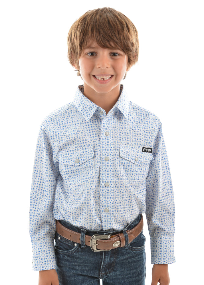 Pure Western - Boys Bull Headprint L/S Shirt