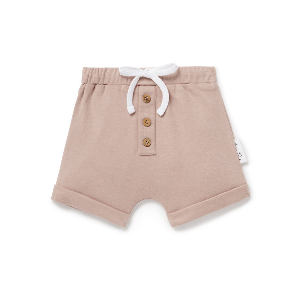BUTTON SHORTS - FAWN