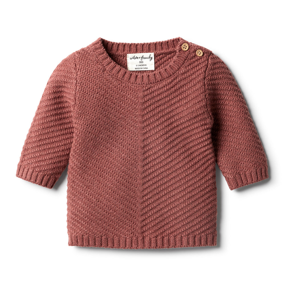 CHILLI MARLE KNITTED CHEVRON JUMPER