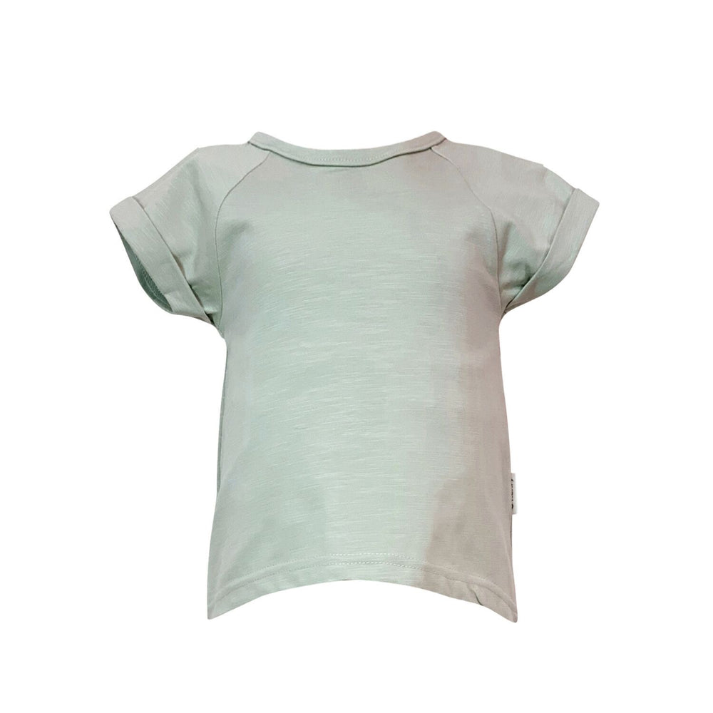Love Henry - Girls Split Back Tee - Moss Green