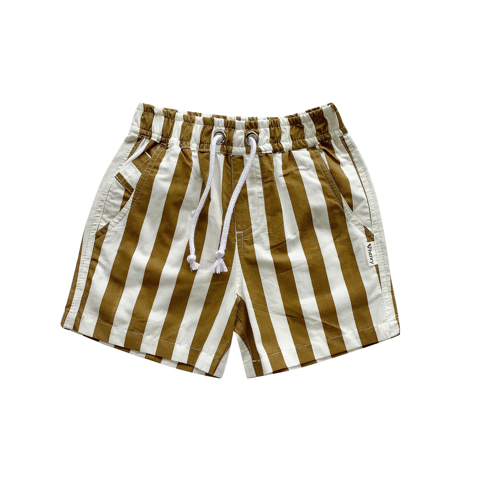 BOYS SONNY SHORT - BRONZE STRIPE