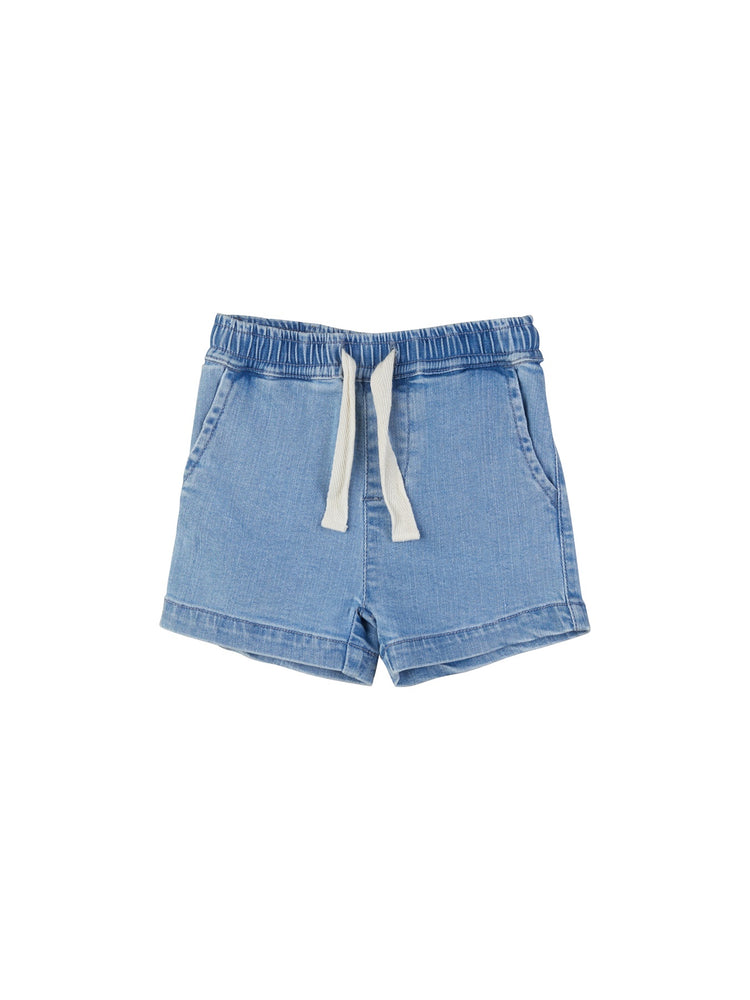 DENIM RELAXED SHORT - DENIM